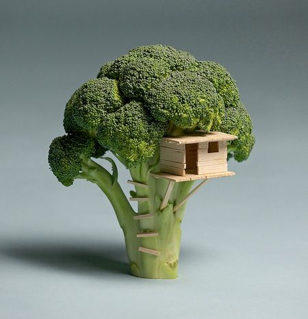Unique sculptures and creative artworks made out of food by Brock Davis.