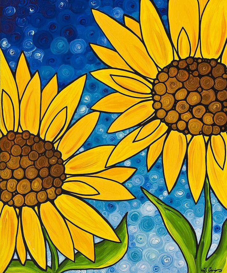 Yellow Sunflowers Painting  - Yellow Sunflowers Fine Art Print