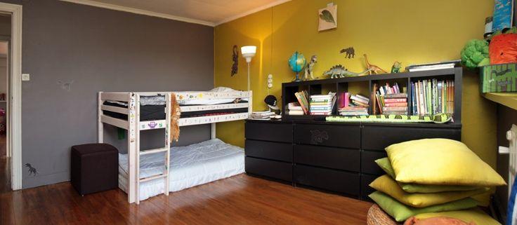 Gele en grijze taupe muur woonkamer pinterest - Grijze wand taupe ...