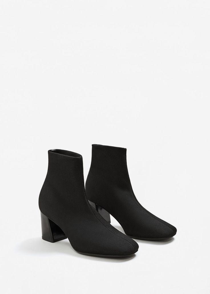 Heel sock boots | MANGO