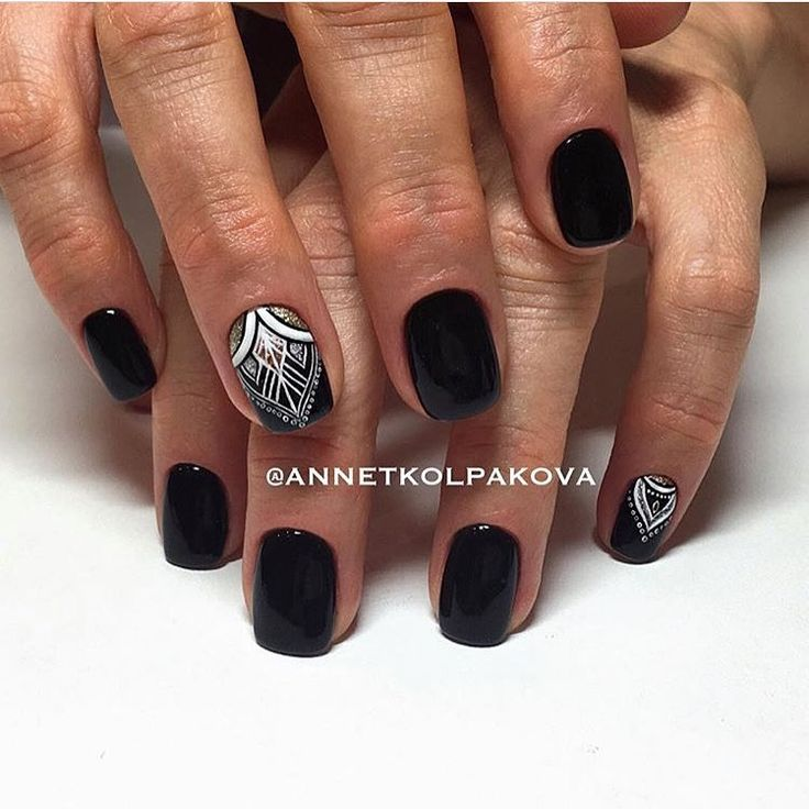 199 best Black nails images on Pinterest | Autumn nails, Nail art ...