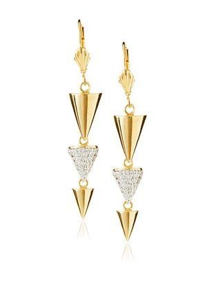 Walter Baker Jewelry Three Cone Drop Earrings