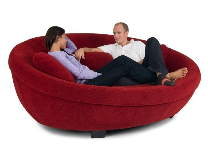 LOVE this for a den or sitting room off a master bedroom. For me and by books/knitting. UFO couch by Cellini.