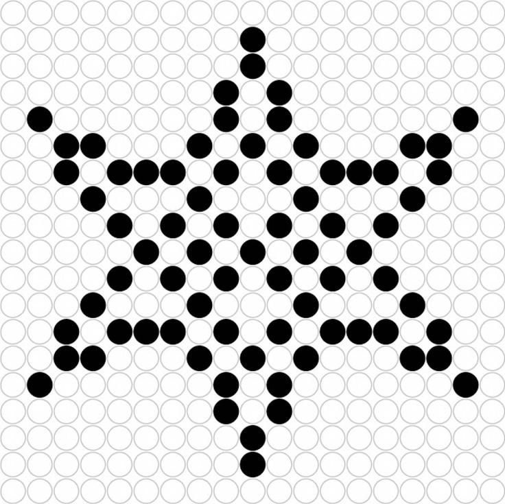 Kralenplank Sneeuwvlok 3