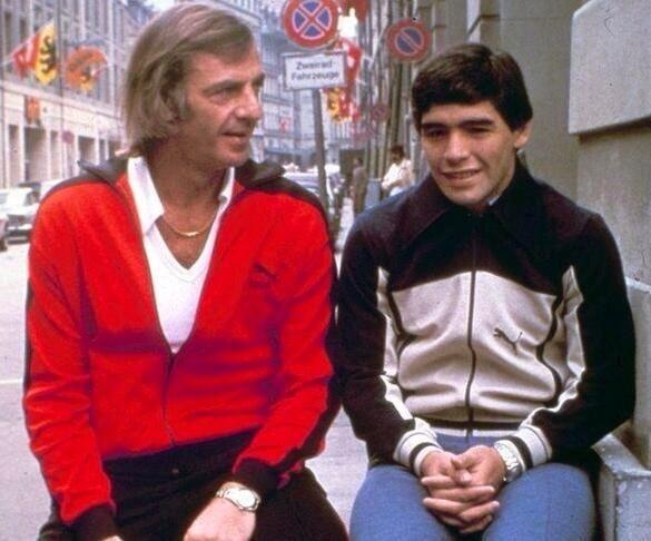 Cesar Luis Menotti  y Diego Armando Maradona