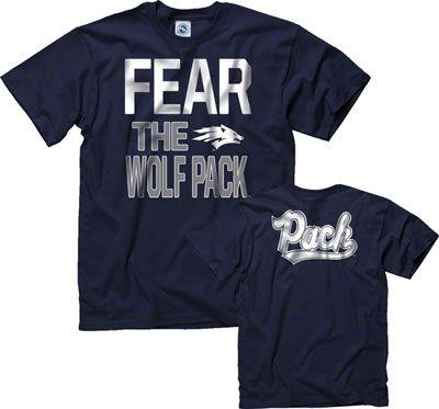 Nevada Wolf Pack Navy Fear T-Shirt