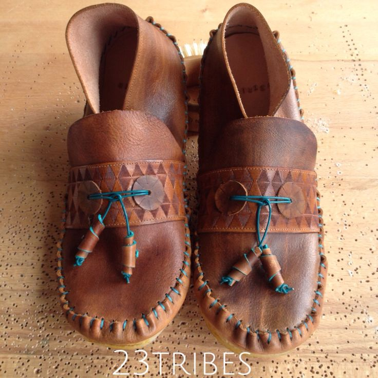Handmade leather moccasins 23tribes leather works