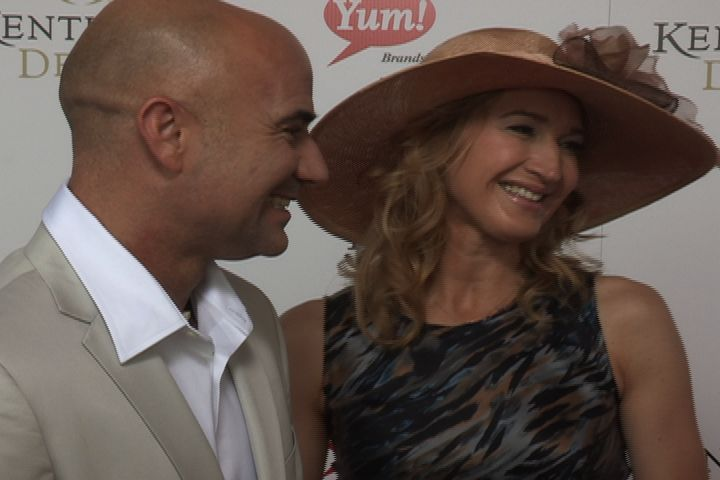 Tennis stars Andre Agassi & Steffi Graf on the Kentucky Derby red carpet.