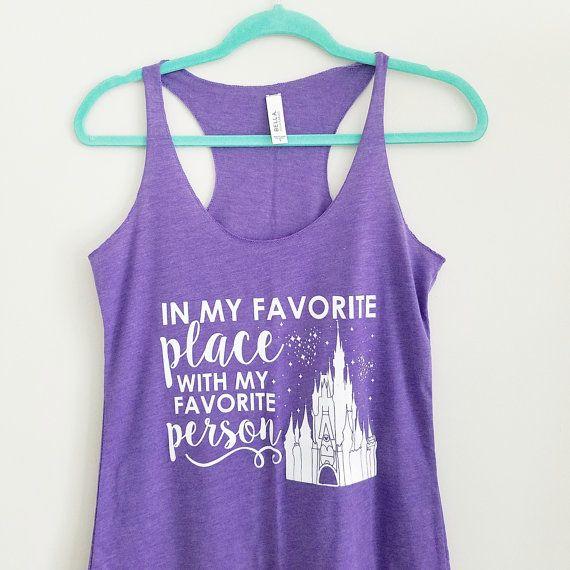 PURPLE Favorite Place Disney Tank Disney by OnceUponAMickeyTee