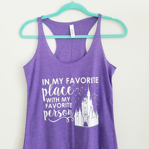 PURPLE Favorite Place Disney Tank Disney by OnceUponAMickeyTee