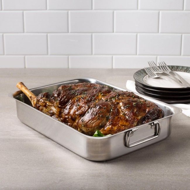 KSP Kuisine Open Roaster with Rack (Stainless Steel)