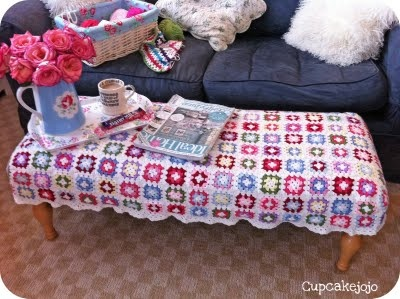 Finally my footstool cover ta-da! http://cupcakejojo.blogspot.com/