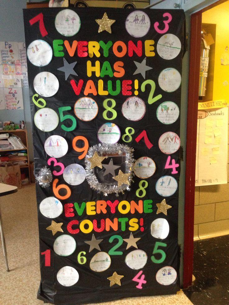 Classroom door prevent bullying contest everyone counts ! Everyone has value