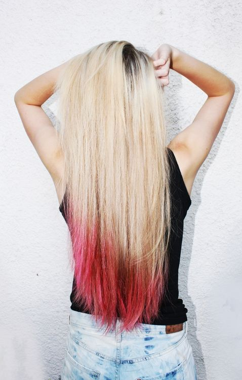 dip dyed hair |