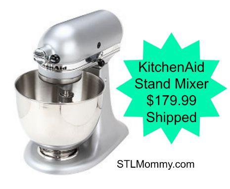 STL Mommy « KitchenAid 4.5-Quart Tilt-Head Stand Mixer Silver Metallic $179.99 Shipped