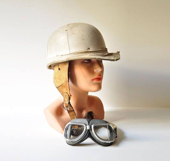 1950's Collectible Everoak Motorcycle Trial Racing Helmet