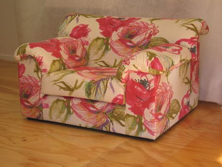 An armchair large enough to carry this bold floral pattern - Living Room, Wellington
