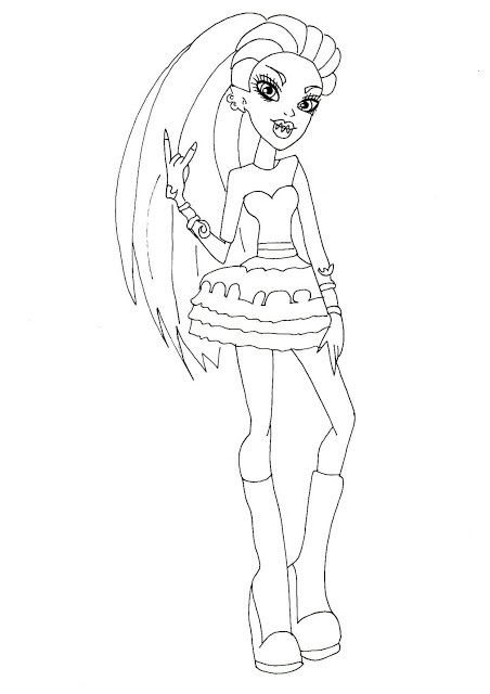 ghouls night out coloring sheet venus mcflytrap - Coloring Pages Monster High Venus
