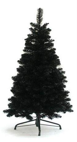 Kunstigt Sort Juletræ 180 cm.