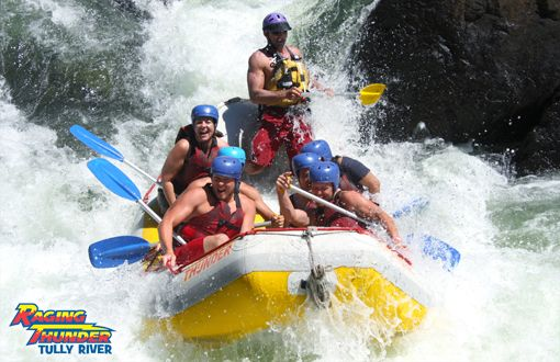 Loved rafting on the Tully River in Cairns, Australia.  Thanks to the amazing river guides with Raging Thunder.
