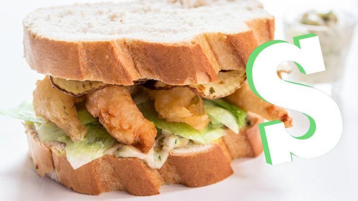 Scampi and chips, served in a basket is a favourite in any pub garden in the summer. That and a proper doorstep sandwich. So we've tried to blend the two tog...