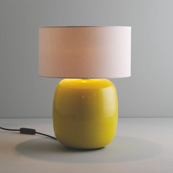 Habitat Popp Yellow Bamboo Table Lamp With Fabric Shade | Prezola - The Wedding Gift List