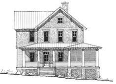 Allison Ramsey Architects | Floorplan for The Oak Ridge - 2839 sqaure foot house plan # NC0001