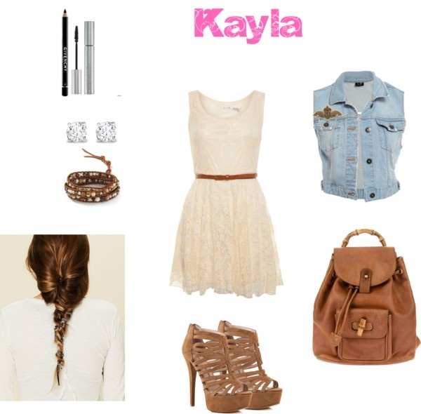 """""""Kaylas outfit for first day of school"""" by chicas143 ❤ liked on Polyvore"""