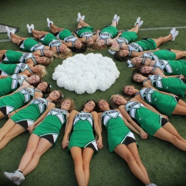 Cheer Team Picture - but do directly overhead if possible