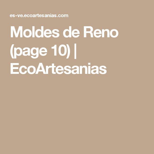 Moldes de Reno (page 10) | EcoArtesanias