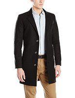 Nautica Men's CC 3 Button Wool Blend 37 Inch Topcoat