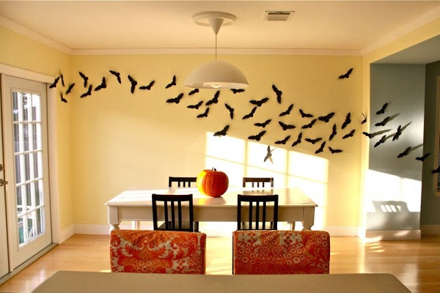 Bats Flying through the house! Brilliant idea and easy to do if you have the time to cut them out.