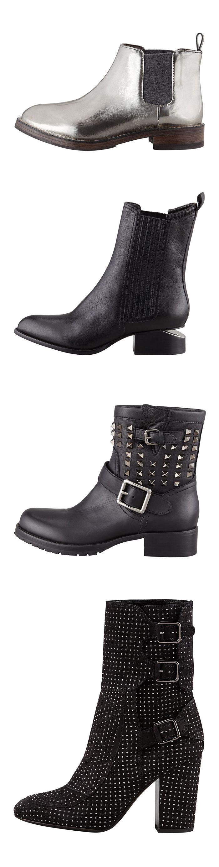 Bring on the bad girl with a pair of boss boots: Cucinelli, A.Wang, Valentino or Laurence Dacade (bottom). 212 872 8947