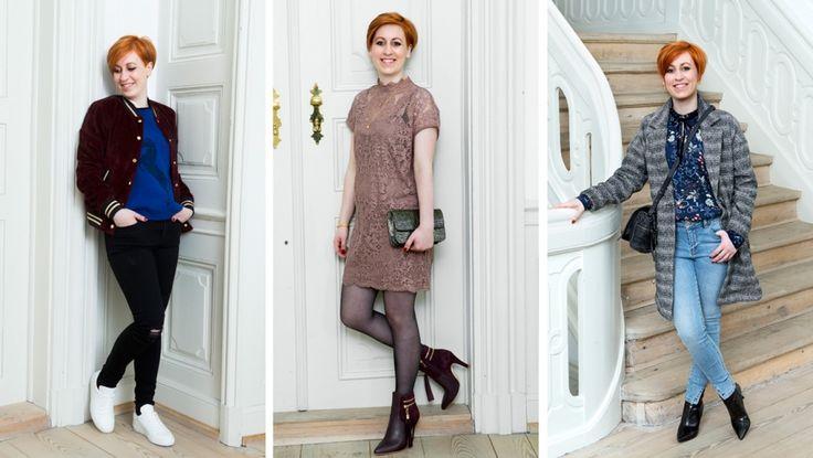 31-årige Mette har dresscode på jobbet, og derfor går hun meget i kjole, skjorte, pæne bukser og blazer. I fritiden er hun mere afslappet klædt, men hun drømmer om at turde kaste sig ud i nye farver – og tips til at få benene til syne længere. Et par sorte skinny jeans vil klæde hendes i forvejen meget harmoniske figur godt, råder stylist Birgit Axelsen, der også opfordrer til flere farver og print, som hun kan mixe på kryds og tværs.