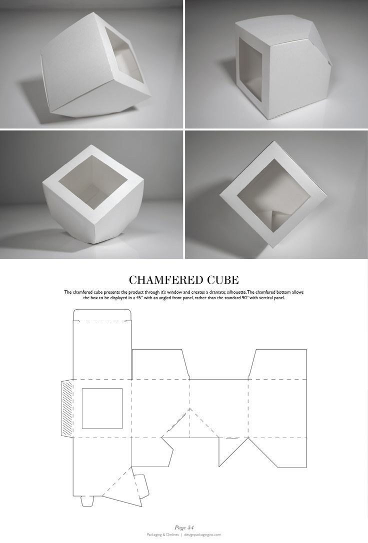 Chamfered Cube - http://issuu.com/designpackaging/docs/packaging-dielines-free-book-design/1