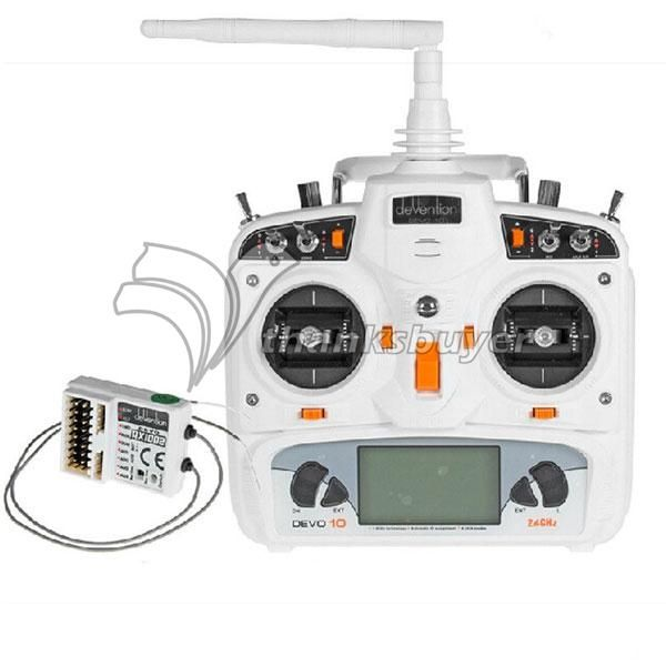 151.81$  Buy now - http://ali1bp.worldwells.pw/go.php?t=2044338746 - Walkera Devo10 2.4Ghz 10CH RC Controller Transmitter 2KM RX1002 Receiver White S (Battery not Included) 151.81$