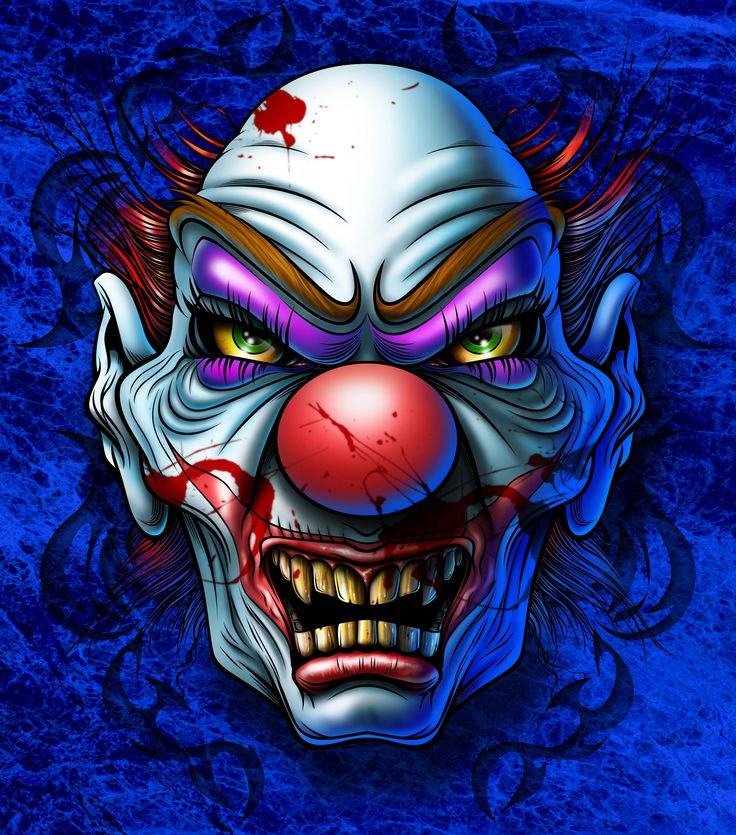poster of scary violent clown