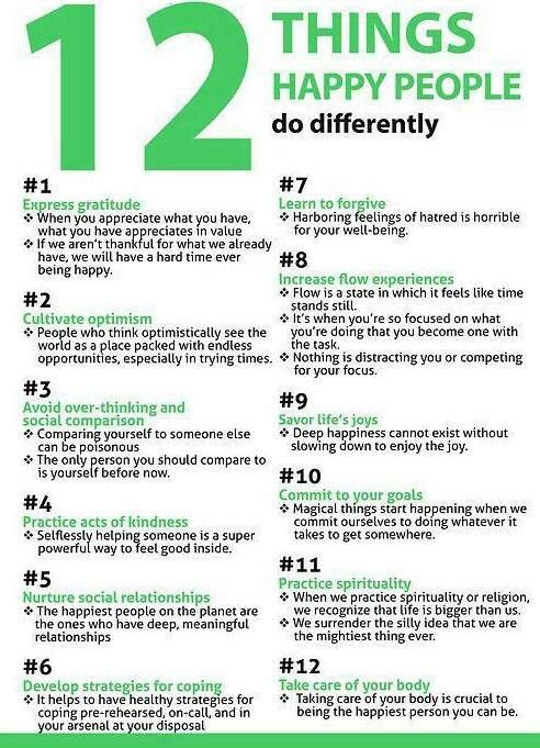 Do12 things diffently.