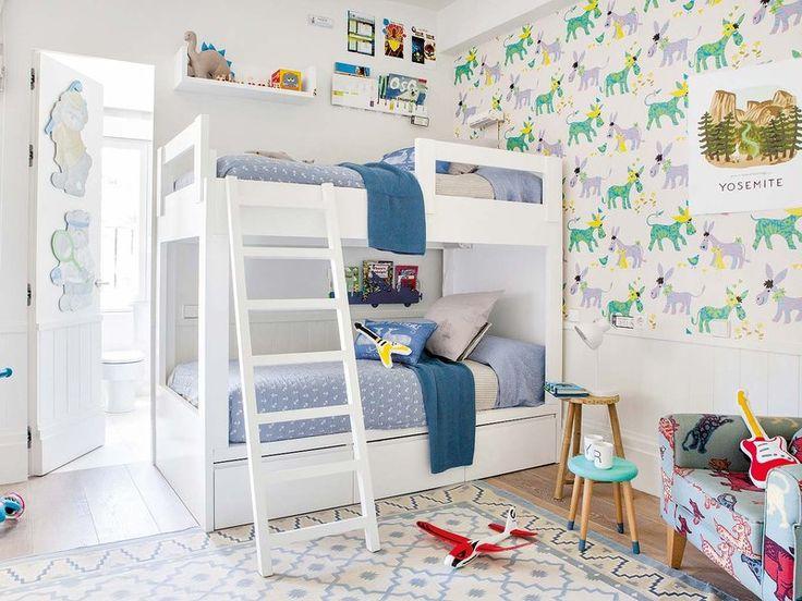 23 mejores im genes sobre habitaciones en pinterest - Habitacion infantil dos camas ...
