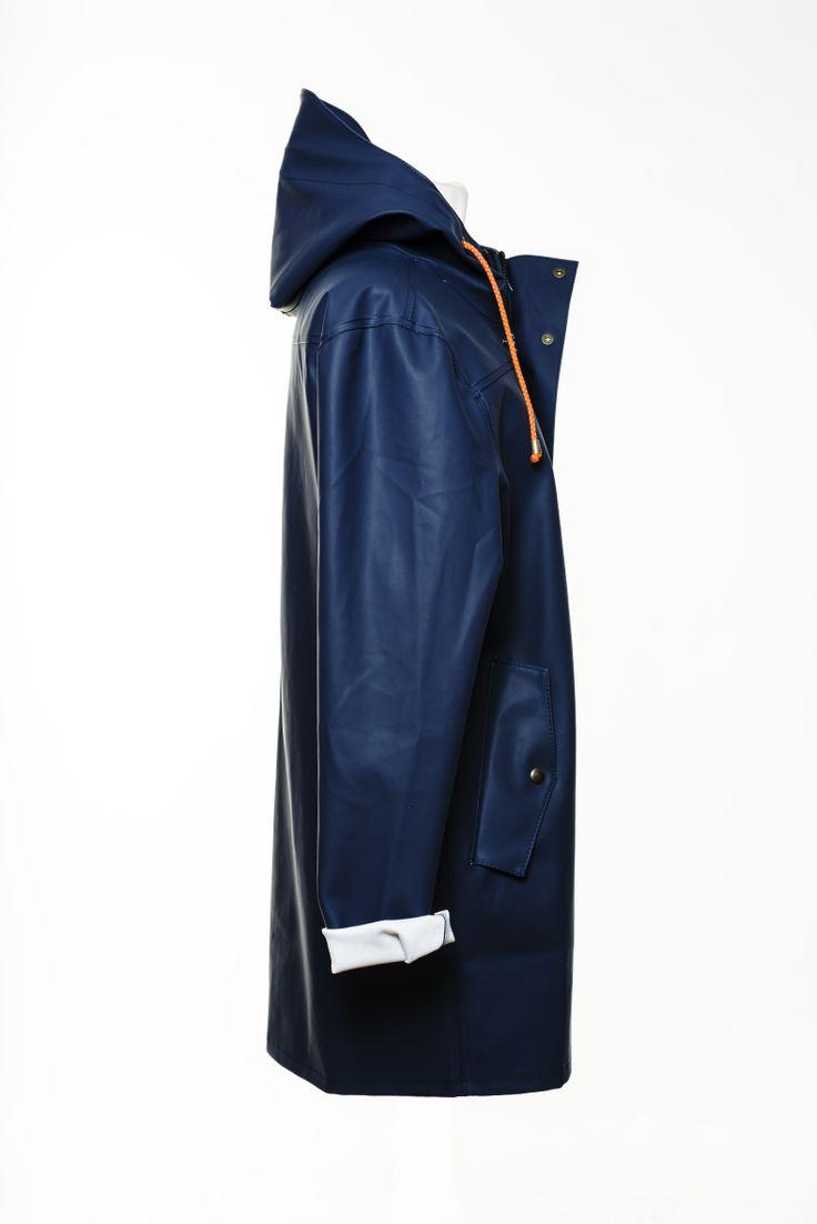 Blå Regnkappa Blue Raincoat Fiskarkappa från Bomärke
