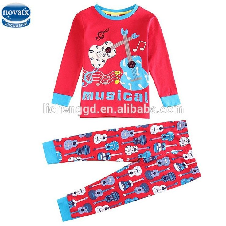 (AB5882)Red 2-6Y wholesale kids sleepwear baby boy sets autumn-spring children clothing sets long sleeve T-shirt and long pants