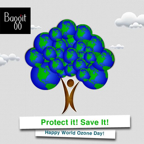 Baggit wishes everyone a very Happy and Eco-friendly Ozone Day! Celebrate this day by doing your bit to save the Ozone and Earth today. Baggit contributes by manufacturing bags which are made up of Vegan, Eco-friendly material out of which most are recyclable, to protect the environment. We sincerely hope you too make an effort to act wisely towards preserving our beautiful environment.