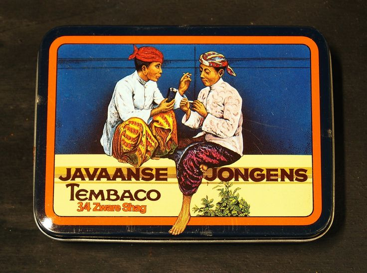 Indonesian tobacco tin