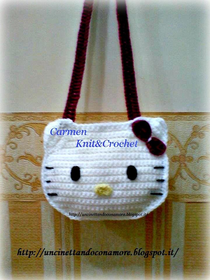 My lovely crochet : Borsetta Hello Kitty