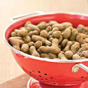 Boiled Peanuts Ingredients 2 pounds dried raw peanuts 1/2 to 2/3 cup salt Preparation 1. Soak peanuts in water to cover in a large stock pot at least 8 hours or up to 24 hours. (You may need to weigh down peanuts with a large plate or lid to ensure that they are fully submerged.) Drain and rinse. 2. Place peanuts and desired amount of salt in stock pot with 4 1/2 qt. water; bring to a boil over high heat. Cover, reduce heat to medium- low, and cook 6 hours or until peanuts are tender, adding…