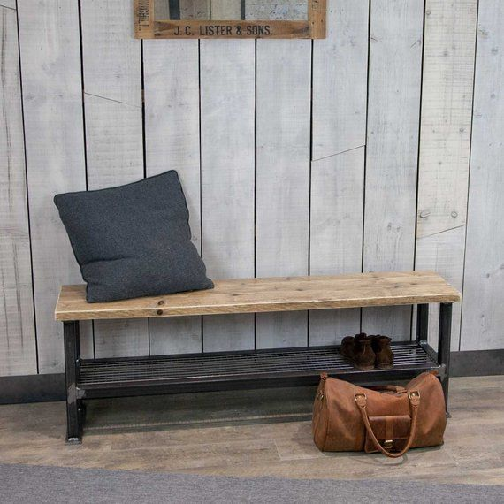 Bench Bench Seat Industrial Bench Entryway Bench Hallway Bench