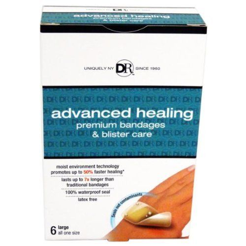 Duane Reade 6 Count Advanced Healing Large Bandage Case Pack 24 - 934143 by DDI. $45.84. 100% waterproof seal, Latex freem, Advanced Healing Bandages are indicated for first aid to help minor cuts, scrapes, abrasions, lacerations, blisters and scalds.. Duane Reade 6 Count Advanced Healing Large Bandages.. Premium bandages & blister care, Moist environment technology promotes up to 50% faster healing, Lasts up to 7x longer than traditional bandages.. Flexible and comforta...