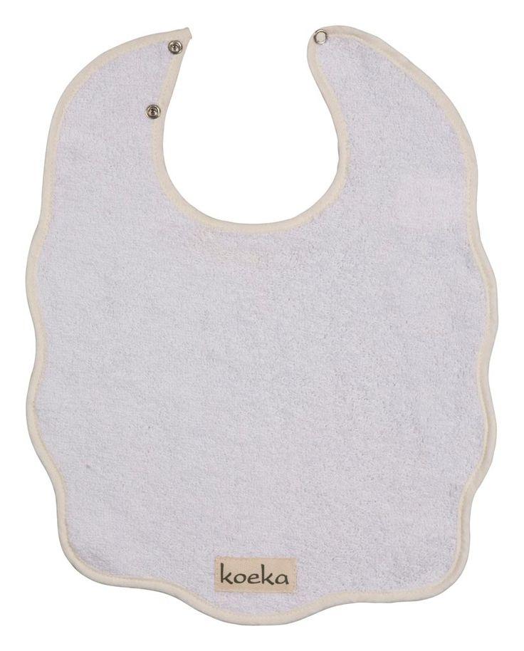 Koeka slabber uit de Rome-serie in wit,  uit de online shop van Babyaccessoires.eu. Ook in andere kleuren te verkrijgen.