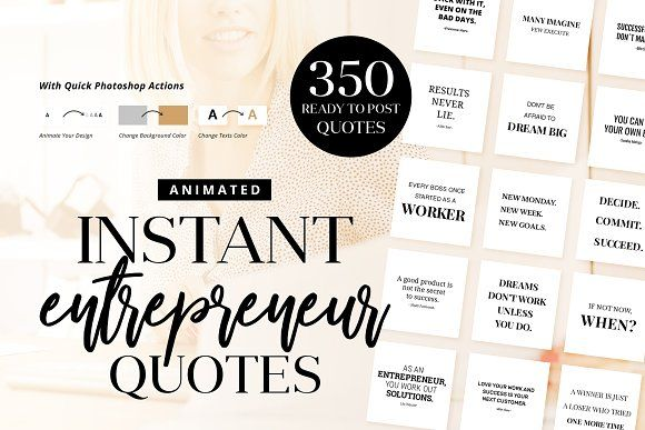 Animated Instant Entrepreneur Quotes by LogoLabs on @creativemarket