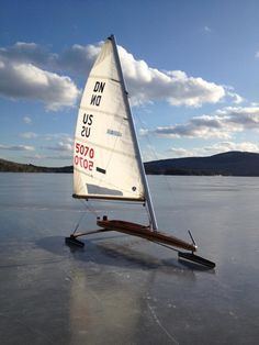 Ice Boat ~ A local favorite ice boat is the DN (Detroit News) class